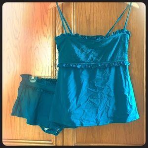 Loft tankini with matching skirt.